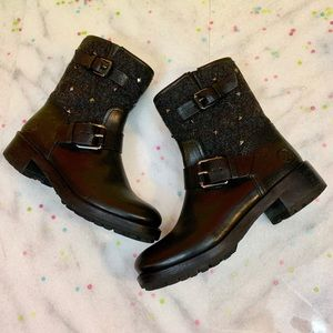 tory burch • christie studded biker ankle boots 5
